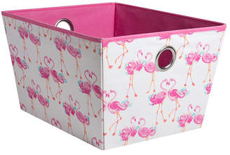 Laura Ashley Medium Grommet Storage Bin in Pretty Flamingo