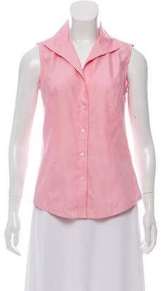 Brooks Brothers Collared Sleeveless Top