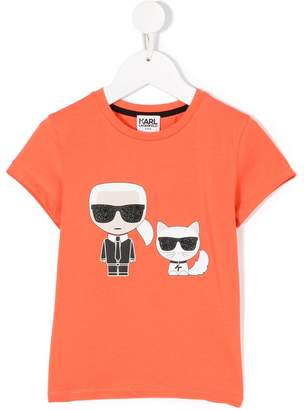 Karl Lagerfeld Iconic Karl&Choupette T-shirt