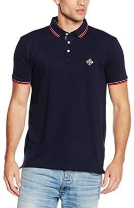 Schott NYC Men's Harbour Short Sleeve Polo Shirt, Blue (Navy)