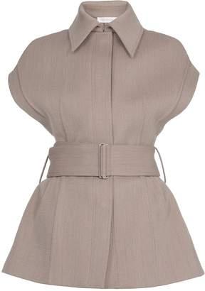 Victoria Beckham Wool And Cotton Waistcoat