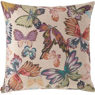 "Missoni Home Vientiane Butterfly Jacquard Pillow, 24""Sq."