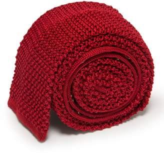 Serà Fine Silk - Imperial Red Knitted Tie