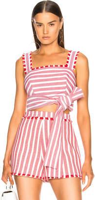 Alexis Lae Crop Top in Red Cream Stripes | FWRD