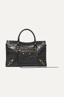 Balenciaga Classic City Textured-leather Tote - Black