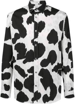 Moschino cow print shirt
