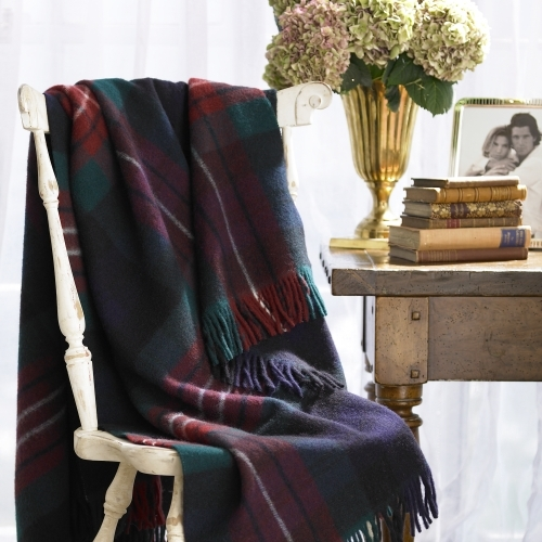 Wool Tartan Throw Blanket