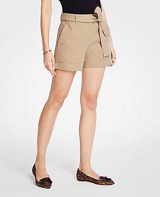 Ann Taylor Petite Marina Tie Waist Shorts