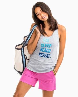 Southern Tide Eat Sleep Beach Repeat Graphic Tank