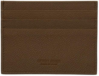 Giorgio Armani Brown Leather Card Holder