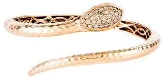 Roberto Coin 18K Diamond Martellato Snake Wrap Bracelet