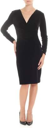 Emporio Armani Black Velvet Dress