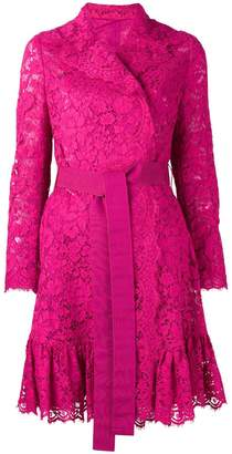 Dolce & Gabbana belted lace coat