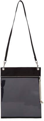 Rick Owens Black PVC Security Pouch Bag
