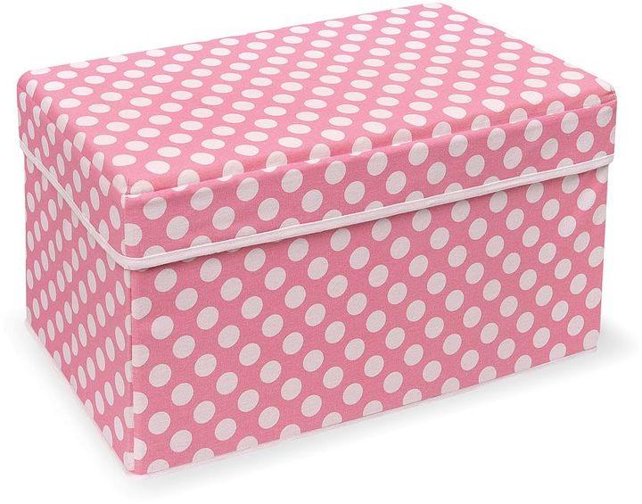 Badger Basket double folding storage seat - pink