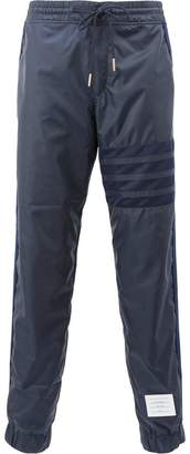 Thom Browne Sweat Pant With Seamed In Mesh 4-bar In Ripstop