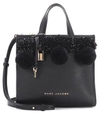 Marc Jacobs Beads & Pom Poms Little Big Shot leather tote