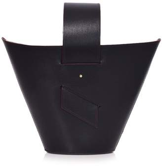 Carolina Santo Domingo Amphora Bag in Black/Rust
