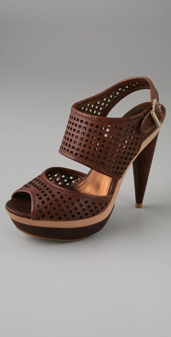 Pelle Moda Caspian Two Piece Double Platform Sandals