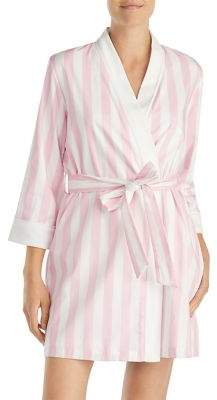 Kate Spade Striped Quarter-Sleeve Robe