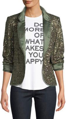 Zadig & Voltaire Verys Sequined Open-Front Blazer