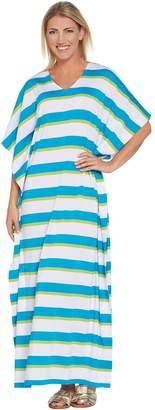 Joan Rivers Classics Collection Joan Rivers Regular Length Bold Striped Knit Caftan