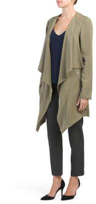 Long Jacket With Zipper Pockets