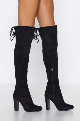 Nasty Gal Over It Over-the-Knee Boot