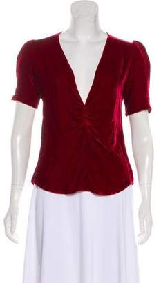 Reformation Fiona Velvet Top w/ Tags