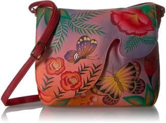 Anuschka Anna By Handpainted Leather Women's Convertible Shoulder Bag Cross Body