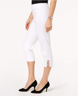JM Collection Embellished Capri Pants
