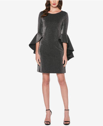 Laundry by Shelli Segal Metallic Bell-Sleeve Sheath Dress