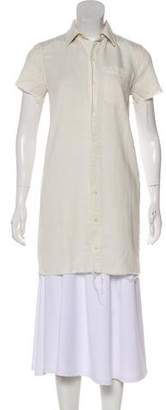 Mother Linen-Blend Button-Up