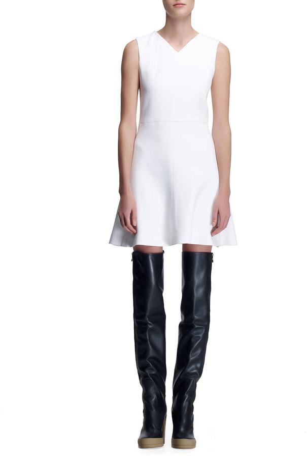 Chloé Crepe Sleeveless Dress, Milk White