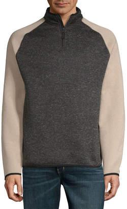 Dockers Mens Mock Neck Long Sleeve Quarter-Zip Pullover