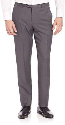Giorgio Armani Men's Basic Textured Wool Trousers
