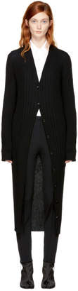 Maison Margiela Black Rib Knit Long Cardigan