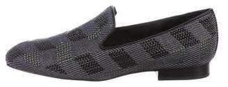 Donald J Pliner Woven Studded Loafers