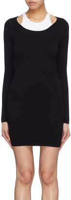 Alexanderwang.T Cutout back racerback tank panel mini dress