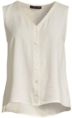 Eileen Fisher Silk Button Blouse