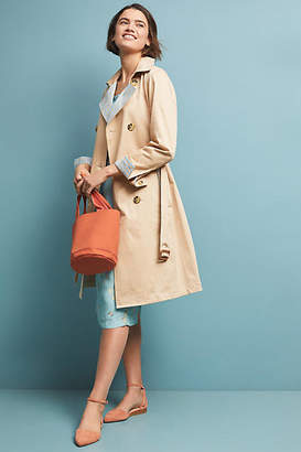 Anthropologie Gingham-Lined Trench Coat