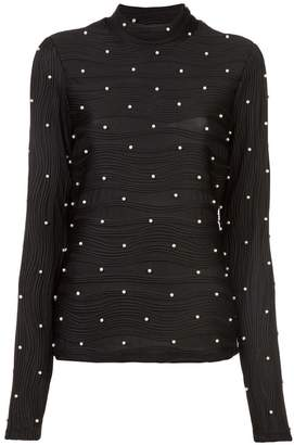 Prabal Gurung faux pearls embellished top