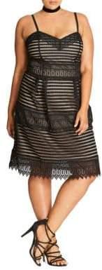 City Chic Plus Spaghetti Strap Cutout Dress