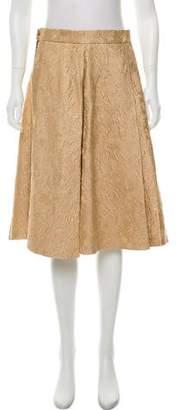 Dolce & Gabbana Metallic Knee-Length Skirt
