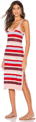 SUBOO Midsummer Knitted Stripe Midi Dress