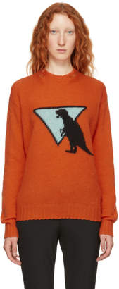 Prada Orange Dinosaur Sweater