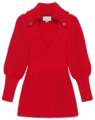 Gucci Ribbed wool mini dress