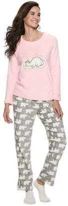 Women's Be Yourself 3-piece Fleece Pajama Set