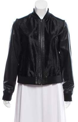 Vince Calf Hair & Leather Bomber Jacket