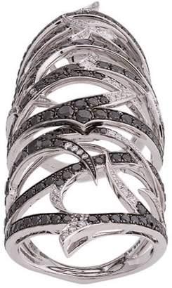 Stephen Webster embellished armour ring
